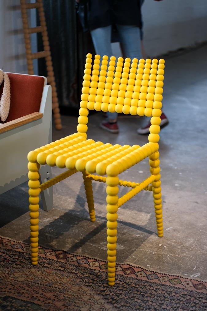 Yellow buns chair