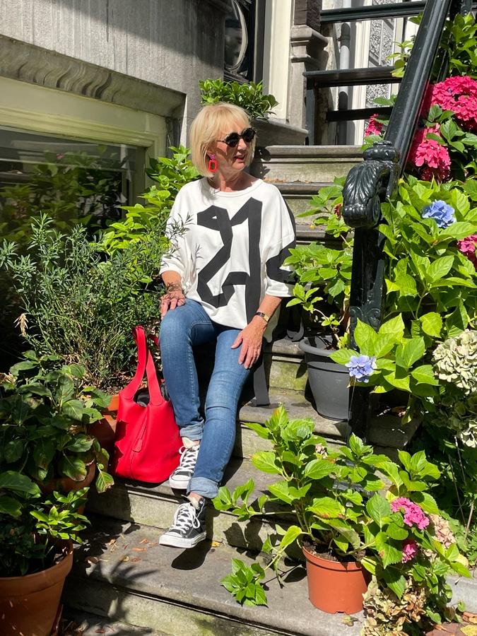 Me in Amsterdam in sweater Dries van Noten