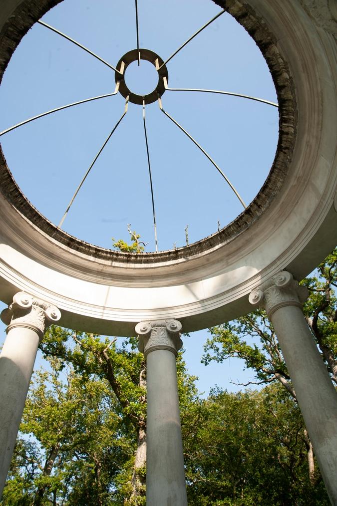 Roof gazebo in the park