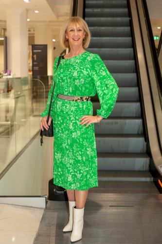 Green maxi summer dress