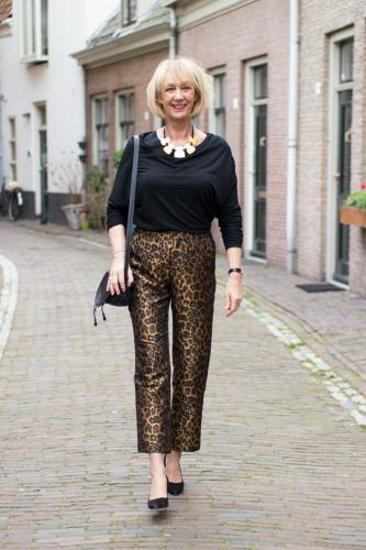 Leopard trousers