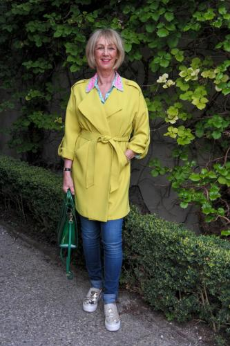 Lime duster coat